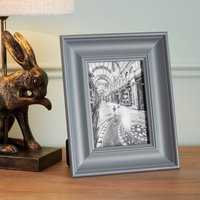 "image-Grey Wooden Painted Photo Frame 7"" x 5\"" (18cm x 13cm) Grey"