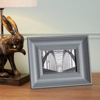 "image-Grey Wooden Painted Photo Frame 6"" x 4\"" (15cm x 10cm) Grey"