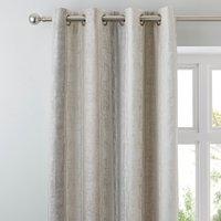 Sadie Stripe Mink Eyelet Curtains Brown