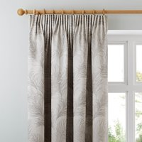 Feathers Grey Pencil Pleat Curtains Grey