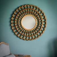 image-Claremont Gold Wall Mirror Gold