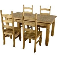 Corona Extending 4 Seater Dining Set Brown