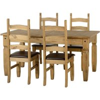 Corona Extending Brown 4 Seater Dining Set Brown