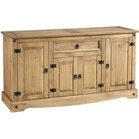 Corona Pine 4 Door 1 Drawer Sideboard Natural