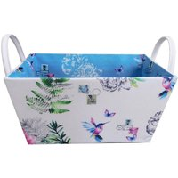 image-Hummingbird Blue Storage Basket MultiColoured