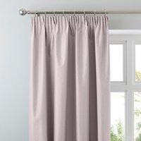 Nova Blush Blackout Pencil Pleat Curtains Blush (Pink)