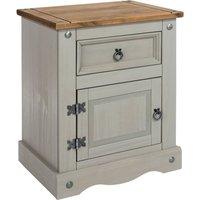 Corona Grey 1 Door 1 Drawer Bedside Cabinet Grey