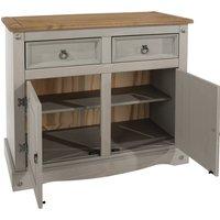image-Corona Grey Small Sideboard Grey and Brown