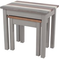 image-Corona Vintage Nest of 2 Tables Grey