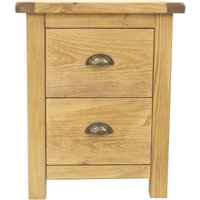 image-2 Drawer Cup Handle Bedside Table Natural