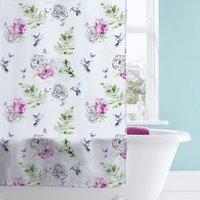 image-Heavenly Hummingbird Shower Curtain MultiColoured