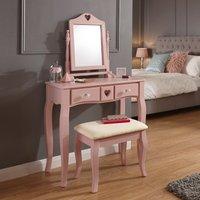 image-Heart Dressing Table Set Pink