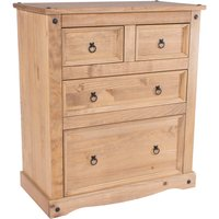 image-Corona 2 Over 2 Chest of Drawers Natural