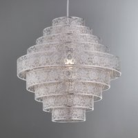 image-Tunis Multi Tier Chrome Easy Fit Pendant Silver