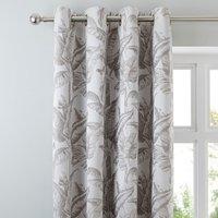 Palm Spring Grey Eyelet Curtains Grey