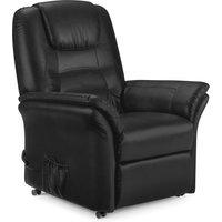 image-Riva Black Riser Recliner Armchair - Black Black