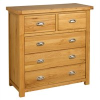 image-Woburn Oak 2 Over 3 Drawer Chest Natural