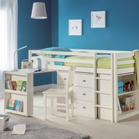 Roxy Single White Midsleeper Bed White