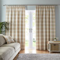 Fyfe Ochre Pencil Pleat Curtains Ochre