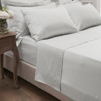 Dorma 300 Thread Count 100% Cotton Sateen Plain Flat Sheet White
