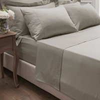 Dorma 300 Thread Count 100% Cotton Sateen Plain Flat Sheet Beige