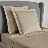 Dorma 300 Thread Count 100% Cotton Sateen Plain Continental Square Pillowcase Natural