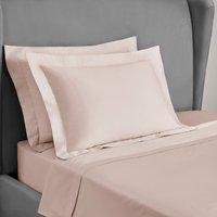 Dorma 300 Thread Count 100% Cotton Sateen Plain Oxford Pillowcase Blush