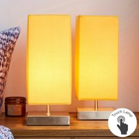 image-Charlotte Touch Dimmable Ochre Table Lamps Ochre