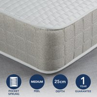 image-Fogarty Luxe Memory Foam and 1000 Pocket Spring Mattress White