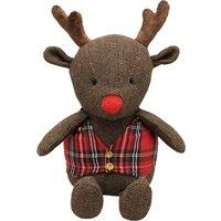 image-Rudolph Reindeer Doorstop Brown, Red and Blue