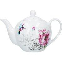 Heavenly Hummingbird Teapot White, Blue and Pink