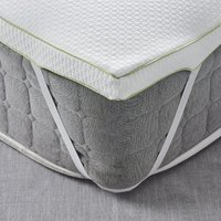 Fogarty anti allergy memory foam mattress topper white