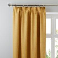 Solar Mustard Blackout Pencil Pleat Curtains Yellow