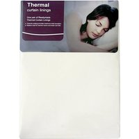 Pencil Pleat Thermal Curtain Linings Cream