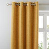 Jennings Ochre Thermal Eyelet Curtains Yellow