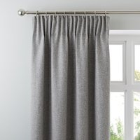 Jennings Grey Thermal Pencil Pleat Curtains Grey