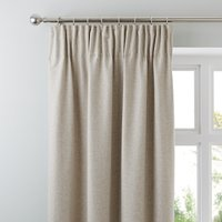 Jennings Natural Thermal Pencil Pleat Curtains Brown