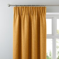 Jennings Ochre Thermal Pencil Pleat Curtains Yellow