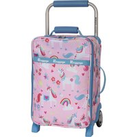 IT Luggage Worlds Lightest Kids Unicorn 17 Inch Cabin Case Pink