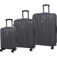 IT Luggage Graphite Hard Shell Suitcase Grey