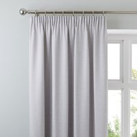 Brighton Dove Grey Textured Pencil Pleat Curtains Dove grey