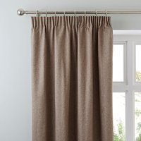 Luna Brushed Mocha Blackout Coated Pencil Pleat Curtains Mocha (Brown)