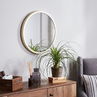 image-Elements Round Wall Mirror 55cm Gold Gold