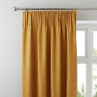 Vermont Mustard Pencil Pleat Curtains Yellow