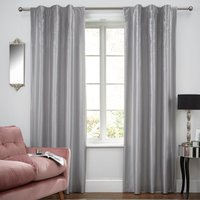 Swirl Sequin Pewter Hidden Tab Top Curtains Pewter