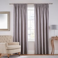 Dorma Lymington Grey Pencil Pleat Curtains Grey