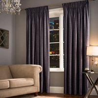 Broadway Charcoal Pencil Pleat Curtains Charcoal