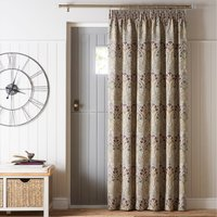 Lucetta Mauve Pencil Pleat Door Curtain Purple, Red and Green