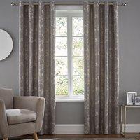 Homebird Grey Eyelet Curtains Grey