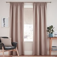 Henley Natural Pencil Pleat Curtains Natural